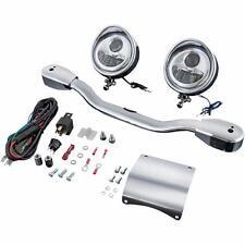 Show Chrome Elliptical LED Driving Lights fits Kawasaki Vulcan 900 Classic 06-12
