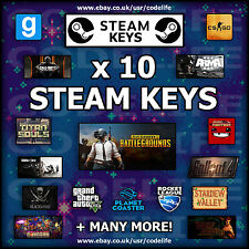 10 x Random Steam CD Keys - SUMMER SALE - Games up to £49.99!!!
