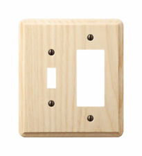 Amerelle  Contemporary  Unfinished  2 gang Wood  Rocker/Toggle  Wall Plate  1 pk