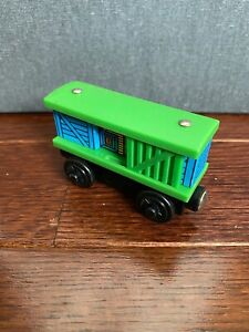 RARE Thomas Wooden Railway Blue Box Car USED