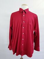 IZOD Wrinkle Free Twill Men's 18 34/35, Long Sleeve, Button Front Red shirt
