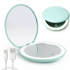 Led Compact Mirror, Rechargeable 1x/10x Magnification Compact Mirror, Dimmable