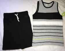 Crazy 8 a Gymboree co Striped Tank Black Jersey Shorts 7-8