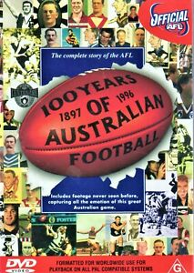 NEW UNSEALED DEFINITIVE OFFICIAL AFL DVD 100 YEARS AUSTRALIAN FOOTBALL TO 1996