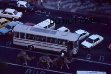 35mm COLOUR SLIDE - 1983 CASA DEL SOL BUS WITH CARS AND CAMELS - SPAIN