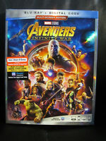 Avengers Infinity War Blu-Ray/Digital HD New IN HAND Marvel MCU Sealed