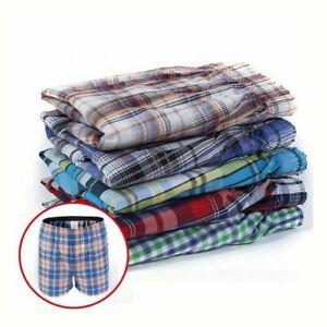 Cotton Rich Men's Woven Boxer Shorts Loose Fit Underwear  Pack of 3 6 12