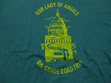 Our Lady Of Angels CATHOLIC SCHOOL Road Trip T Shirt FREE Shipping size Medium