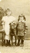 France Annoeullin Children & Dog Fashion Old CDV Photo Courmont 1890