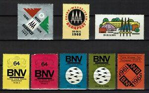 Hungary Poster Stamp Cinderellas Budapest International Exhibition 1960 - 1971