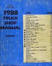 1988 Ford Aerostar Mini Van Shop Manual 88 Original Reparatur-Service Buch XL