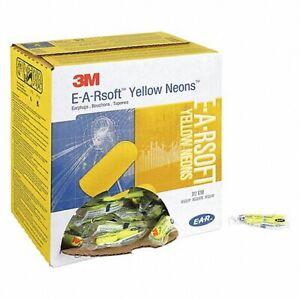 3M 312-1250 E-A-Rsoft Yellow Neon's,Bullet Ear Plugs,33 dB Uncorded (10,25,50Pk)