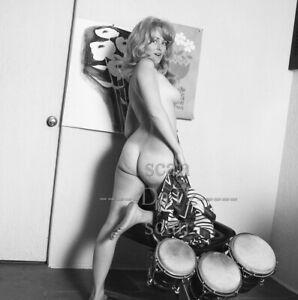 1960s Negative-nude blonde pinup girl Sally Baker-bongos-cheesecake t74529