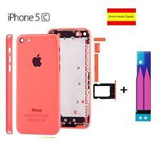 CHASIS IPHONE 5C CARCASA COMPLETA MARCO TAPA TRASERA APPLE ROSA PINK + ADHESIVO