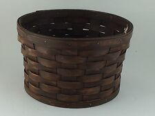 Longaberger Antiqued Medium Bushel Basket no handles