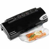 Andrew James Food Vacuum Sealer Machine Robust Family Sized Heat Sealer | Black