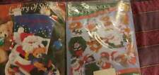 New listing Set Of Two Holiday Christmas Felt Stocking And Cat Ornament Kits Brand New