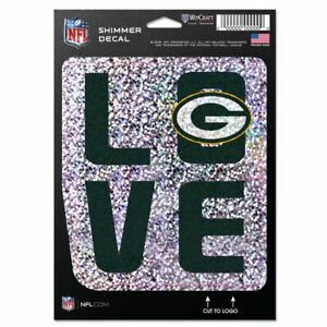 NFL GREEN BAY PACKERS DECAL SHIMMER WITH HOLOGRAPHIC BACKGROUND 5 X 7 NEW