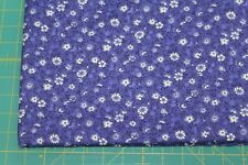 100 % Cotton fabric ~ Purple with White,purple, flowers & leaves ~ BTY