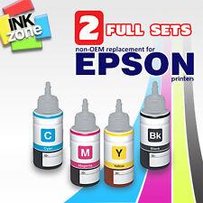 2 Full Colour Set di non-OEM ad alto rendimento INCHIOSTRO PER STAMPANTE EPSON EcoTank L355 L555