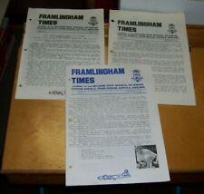 FRAMLINGTON TIMES 390th BOMB GROUP MEMORIAL AIR MUSEUM PARHAM  Nos 26 27 33
