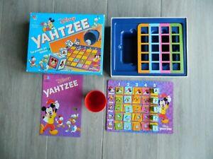 YAHTZEE WALT DISNEY 1992 MB  - VINTAGE - COMPLET - RARE jeu de société mickey