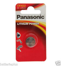 8 Piece Panasonic Lithium Metal Battery Button Cell 3 Volt Type CR 1632 BBD 2024
