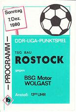 DDR-Liga 80/81 TSG construcción rostock-BSG Motor Wolgast 07.12.1980
