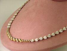 "Gemstone White Howlite Heart Necklace w/ 14K Gold Filled Beads 19"" Length NWOT"