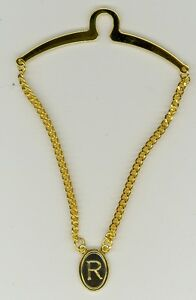 Gold-Plated Initial Tie Chain ~ R ~ Initial 'R' ~ Cable Tie Chain ~ Fathers Day
