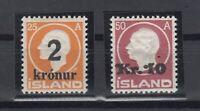 E3095/ ICELAND – MI # 119 / 120 COMPLETE MINT MH CERTIFICATE – CV 750 $
