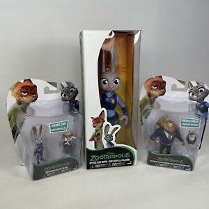 Disney Zootropolis Bundle Figures Mayor Lionheart 2 Judy Hopps & May Bellwether