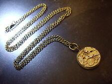 Steampunk Montre Mouvement collier bijoux fantaisie pendentif médaillon médaille