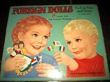 Vintage Foreign Children Paper Dolls Uncut & Snow White Puzzle New Old Stock
