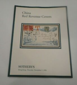 SOTHEBY'S Stamps China Red Revenue Covers Auction Catalog 1996