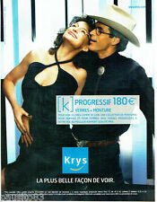 PUBLICITE ADVERTISING 046  2005  les opticiens Krys verres progressifs