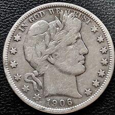 1906 D Barber Half Dollar 50c Nice Grade #15277