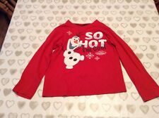 Boys long sleeved Disney Olaf top age 7-8 years