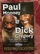 Dick Gregory/  Paul Mooney Feb 10 2017 ad/flyer  NYC  BB.Kings Jackie Mason 5/17