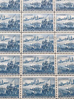 GandG US Stamps #1000 Landing Of Cadillac 3c Sheet Of 50 MNH OG