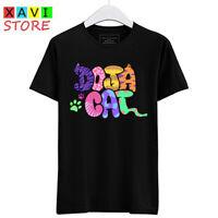 Doja Cat Logo Symbol Men's Black Tees T-Shirt Size S-3XL