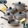 9 Piece Cookware Set Nonstick Pots&Pans Home Kitchen Cooking Non Stick Champagn