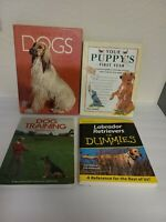 Lot of 4 Books On DOGS - Training, Labs For Dummies, Puppy's First Year EUC