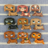 Littlest Pet Shop Hasbro Action Figures LPS Dachshund Dog Collection Kids Toys