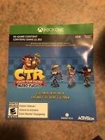 Crash Team Racing - Nitro Fueled ELECTRON SKINS PACK Xbox One *DLC Only, No Disc