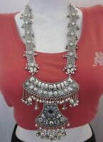 Statement Long Boho Gypsy Necklace Afghan Tribal Fashion Jewelry Vintage Style