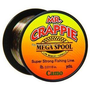 Lew's MC8CM Mr. Crappie Monofilament Mega Spools Camo 8 lb Test