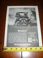 TOYOTA LAND CRUISER BAJA 1000 OFF ROAD RACE CHAMPION - ORIGINAL 1974 AD