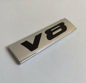 Negro Cromado 3D Metal V8 Emblema Insignia Para Mercedes a B C E CLASE S Sl SLK