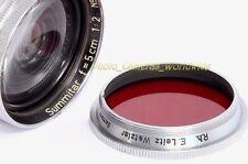Leica R.H. Leitz gecoo Luz Rojo Cónico Tornillo Filtro E36 para Summitar F = 5cm 1:2